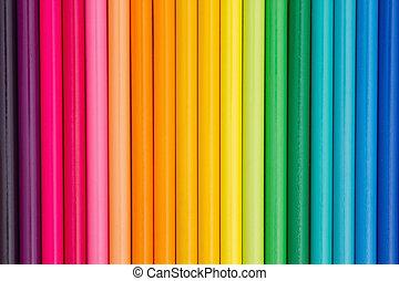 Colorful pencil crayon education background