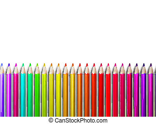 Colorful pencil crayons on white. plus EPS10 - Colorful...