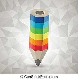 Colorful pencil vector icon