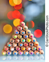 pencils as christmas tree