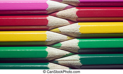 Colorful pencils, education concept