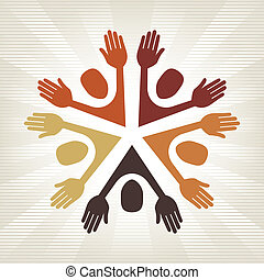Colorful people vector.
