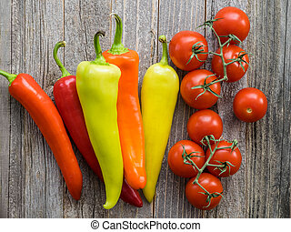 Colorful Peppers and Campari Tomatoes - A lot of colorful ...
