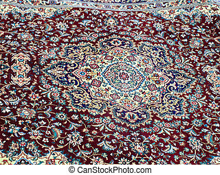 colorful Persian carpet from Isfahan, Iran