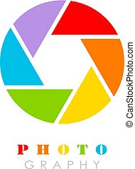 Colorful photography vector logo