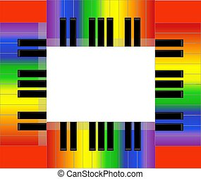 Colorful Piano Keyboard Frame