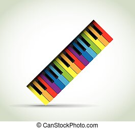 Colorful Piano rol