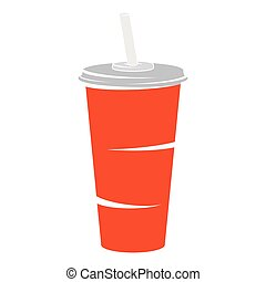 Colorful Pictogram Icon Softdrink