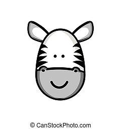 colorful picture face cute zebra animal