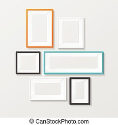 Colorful Picture Frame Template Set. Vector
