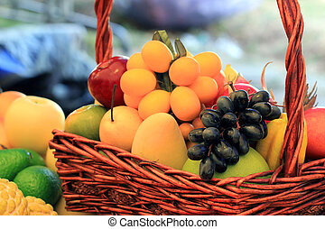 colorful picture of various fruits