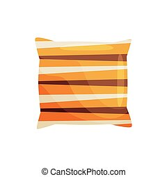 Colorful pillow on white background. Vector illustration.