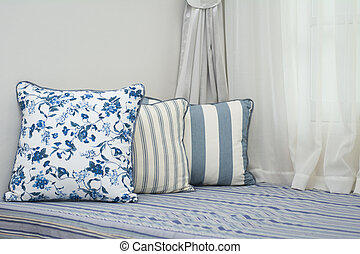 colorful pillows in room