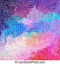 colorful pink, blue, purple and violet colored abstract...