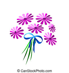 pink daisy bouquet - colorful pink daisy bouquet with teal ...