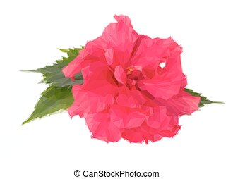 Pink Hibiscus Flower This Is A Rasterized Logoclip Art Of A Pink