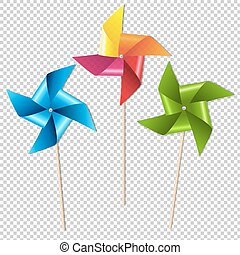 Colorful Pinwheels Gradient Mesh, Vector Illustration