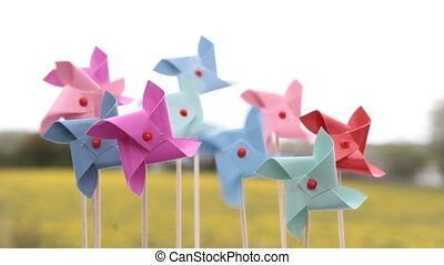 Colorful pinwheels toy - Colorful pinwheels  toy