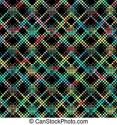Colorful Pixel Pattern - Vector Seamlees Colorful Pixel...