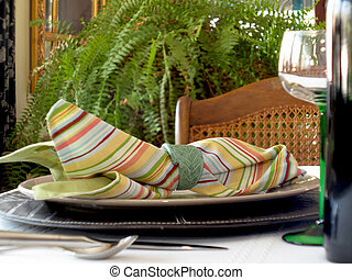 Colorful place setting