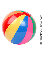 colorful plactic ball isolated on white background