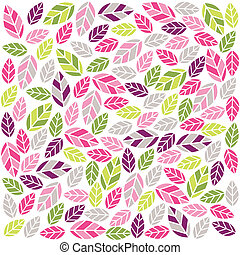 colorful plant pattern with fabric texture