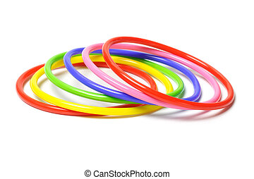 Colorful plastic bangles - Multicolor plastic bangles...