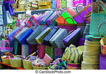 Colorful Plastic Baskets for Sale in Oaxaca