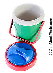 colorful plastic cool box
