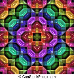 Colorful plastic kaleideoscope pattern - Colorful repeating...