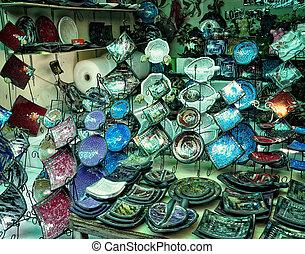Colorful plates souvenir in Kuta - Colorful plates souvenir...