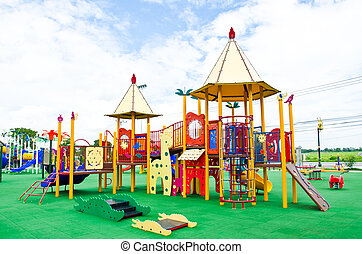 Colorful Playground - Image of a colorful children's ...