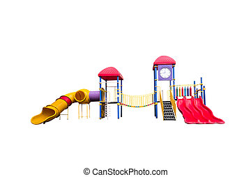 Colorful playground Isolated on white with clipping path