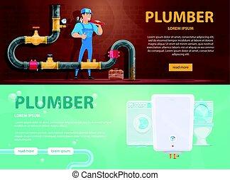 Colorful Plumbing Horizontal Banners - Colorful plumbing ...