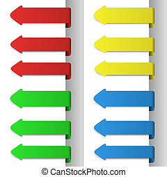 Colorful pointing arrows