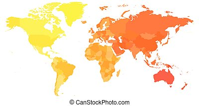 Colorful political map of World