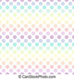Colorful polka dot pattern. Vector illustration