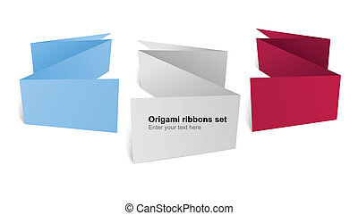 Colorful polygonal origami ribbons