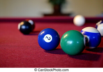 Colorful pool billiard balls