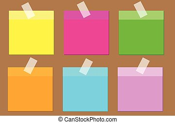 colorful post it paper note