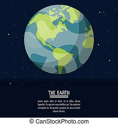 colorful poster with planet earth