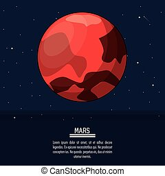 colorful poster with planet mars