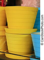 Colorful potted plants for sale