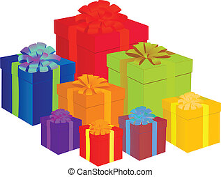 presents - colorful presents vector illustration