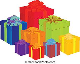 presents - colorful presents vector illustration
