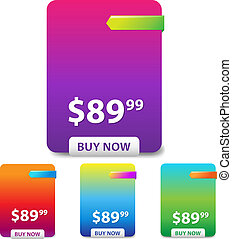 Colorful Price Table