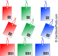 colorful Price tags isolated