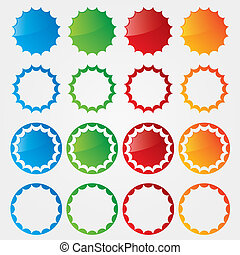 Colorful price tags vector collection.