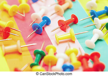Colorful pushpins