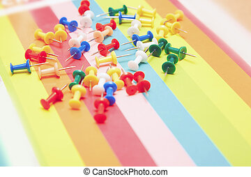 Colorful pushpins